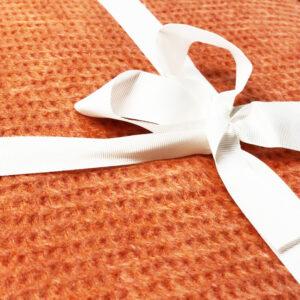 Cuvertura pentru pat bumbac caramiziu casual 200×220 cm