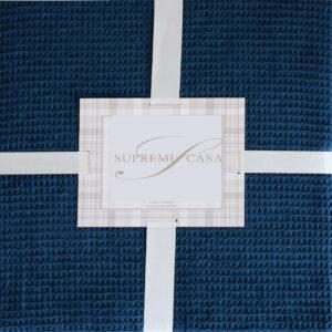 Cuvertura pentru pat bumbac Casual indigo, 200x220 cm